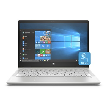 "HP Pavilion x360 14-CD0003NH 14"" FHD BV Touch, Core i5 8250U 8GB, 256GB SSD, Intel UHD, WIN10, ezüst"