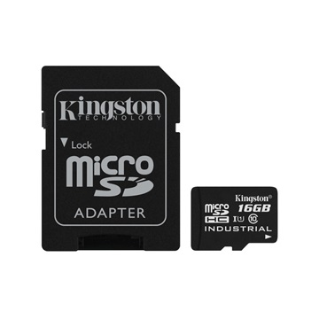 KINGSTON Memóriakártya MicroSDHC 16GB CLASS 10 UHS-I Industrial Temp + Adapter