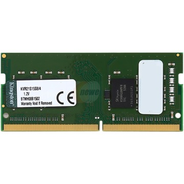 KINGSTON NB Memória DDR4 4GB 2133MHz CL15 SODIMM Single Rank x8