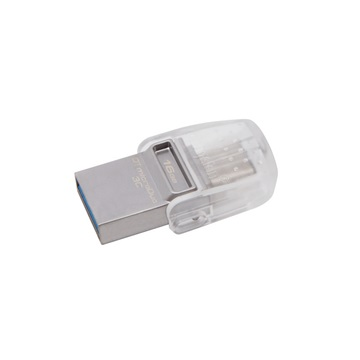 KINGSTON Pendrive 16GB, DT MicroDuo 3C USB 3.1/3.0 + Type C (100/10)