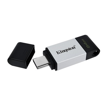 KINGSTON Pendrive 64GB, DT 80 USB-C 3.2 Gen 1 (200 MB/s olvasás)