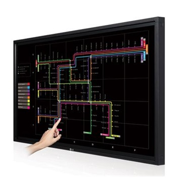 "LG LED IPS LFD Monitor 47"" 47LT55A, 1920 x 1080, Multi-Touch Monitor, fekete"