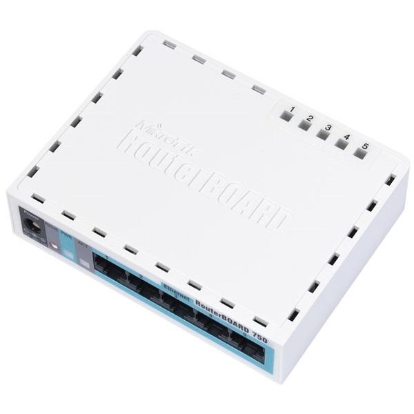 MIKROTIK Vezetékes Router 5 x 10/100 RJ45 RouterBOARD RB750 r2