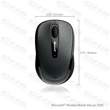 439c49b867a5 MS Vezeték Nélküli egér Notebook Mobile 3500 Optikai Fekete BlueTrack