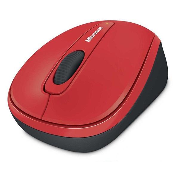 MS Vezeték Nélküli egér Notebook Mobile 3500 Optikai Piros BlueTrack