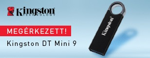 Megérkezett a Kingston DataTraveler® Mini 9 pendrive