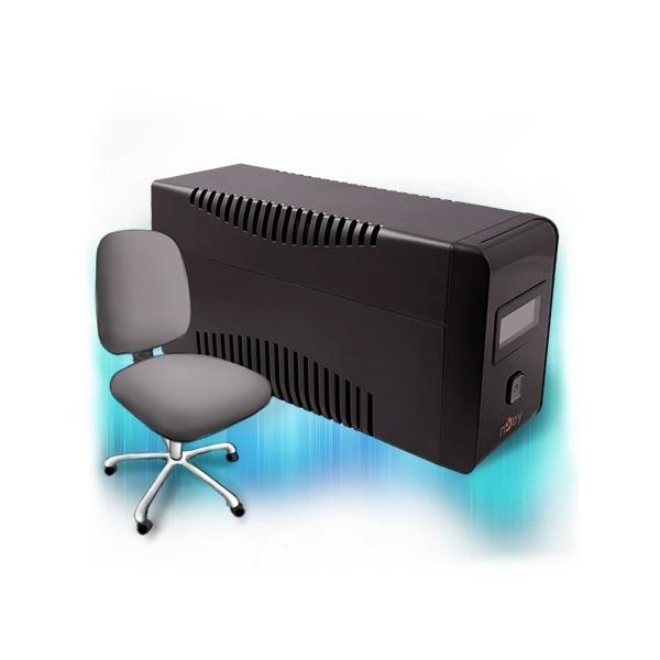 NJOY UPS ISIS 850L, 850VA, 480W, Line-Interactice, Szünetmentes tápegység, LCD display