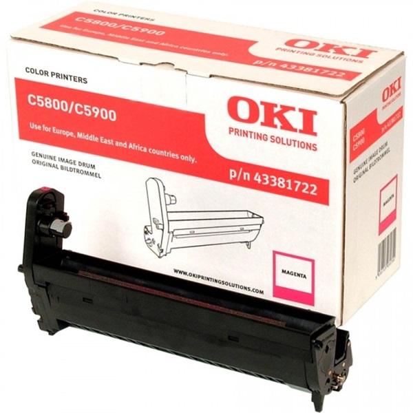 OKI Drum C58/59/5550MFP piros