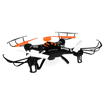 OVERMAX Drón X-Bee Drone2.5 quadcopter kamera (HD,4Gb microSD,2,4GHz,6 tengely,2x650mAh), Fekete
