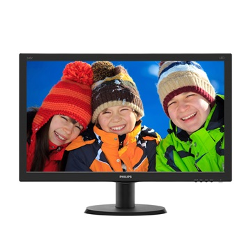 "Philips IPS-ADS Monitor 23,8"", 240V5QDAB/00 1920x1080, 16:9, 1000:1, 250 cd/m2, 5ms, VGA/DVI-D/HDMI, fekete"