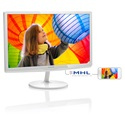 "Philips IPS-ADS Monitor 24"", 247E6EDAW/00 1920x1080, 16:9, 1000:1, 250 cd/m2, 5ms, VGA/DVI-D/MHL-HDMI, fehér"