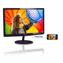 "Philips IPS Monitor 23.6"", 247E6QDAD/00, 1920x1080, 16:9, 1000:1, 250 cd/m˛, 5ms, VGA/DVI-D/HDMI+MHL, fekete/cherry"
