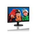 "Philips LED Monitor, 203V5LSB26/10, 19.5"", 1600x900, 16:9, 200 cd/m2, 5ms, VGA, fekete"