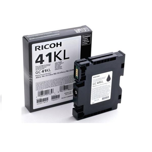 RICOH Gél GC-41K, Kis kapacitású - 600 oldal, Fekete