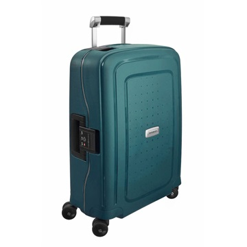 SAMSONITE Bőrönd, SPINNER 55/20 - S´CURE DLX, METALLIC GREEN (50919)