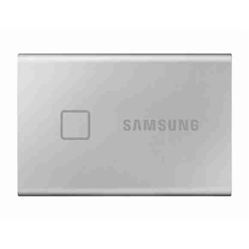SAMSUNG Portable SSD USB3.2 500GB Solid State Disk, T7 Touch, Szürke