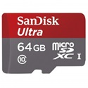 SANDISK microSDXC Mobile Ultra 64GB, 80MB/S, UHS-I, CL10 + adapter