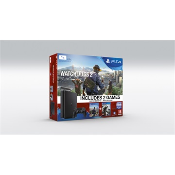 SONY PS4 Konzol 1TB Slim + Watchdogs 2