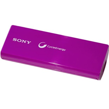 SONY Power Bank 3000mAh, USB, AC/usb adapterrel, Lila