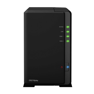 SYNOLOGY NAS Storage 2 fiókos DS216play 2x1,5Ghz, 1Gb RAM, 1x 10/100/1000, 1x USB 2.0, 1x USB 3.0