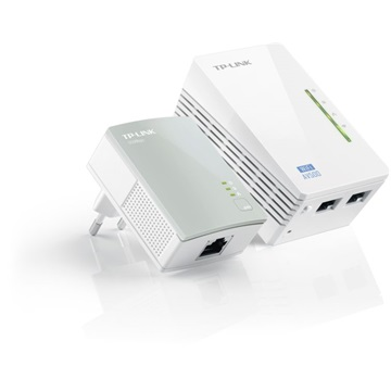 TP-LINK Powerline AV500 2x100Mbps + Wireless N-es 300Mbps, TL-WPA4220 KIT