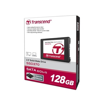 "Transcend 2.5"" SSD SATA III 128GB Solid State Disk SSD370 7mm"