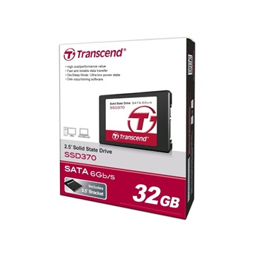"Transcend 2.5"" SSD SATA III 32GB Solid State Disk SSD370 7mm"