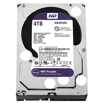 "WESTERN DIGITAL 3.5"" HDD SATA-III 4TB 5400rpm 64MB Cache, CAVIAR Purple"