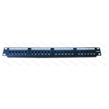 "WIRETEK UTP patch panel 24 port Cat.5E 19"", tehermentesített"