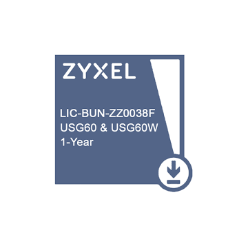 ZYXEL LIC-BUN,  1 YR Content Filtering/Anti-Spam/Anti-Virus Bitdefender Signature/IDP License for USG60 & USG60W