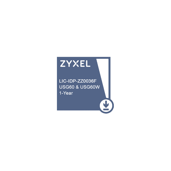 ZYXEL LIC-IDP,E-iCard 1 YR IDP License for USG60 & USG60W
